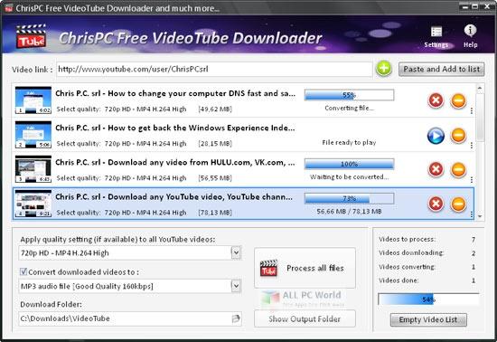 ChrisPC VideoTube Downloader Pro 12.09 One-Click Download