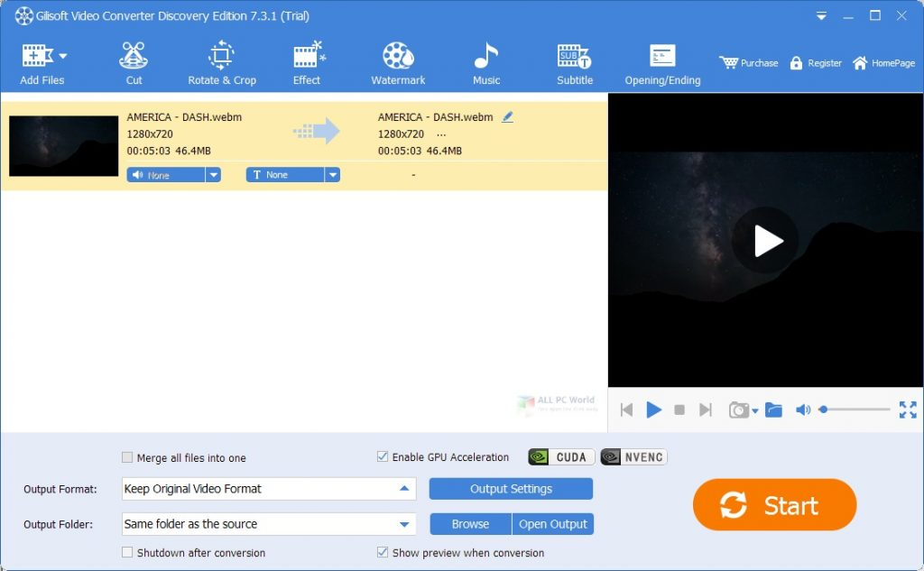 Gilisoft Video Converter Discovery Edition 11.0 One-Click Download