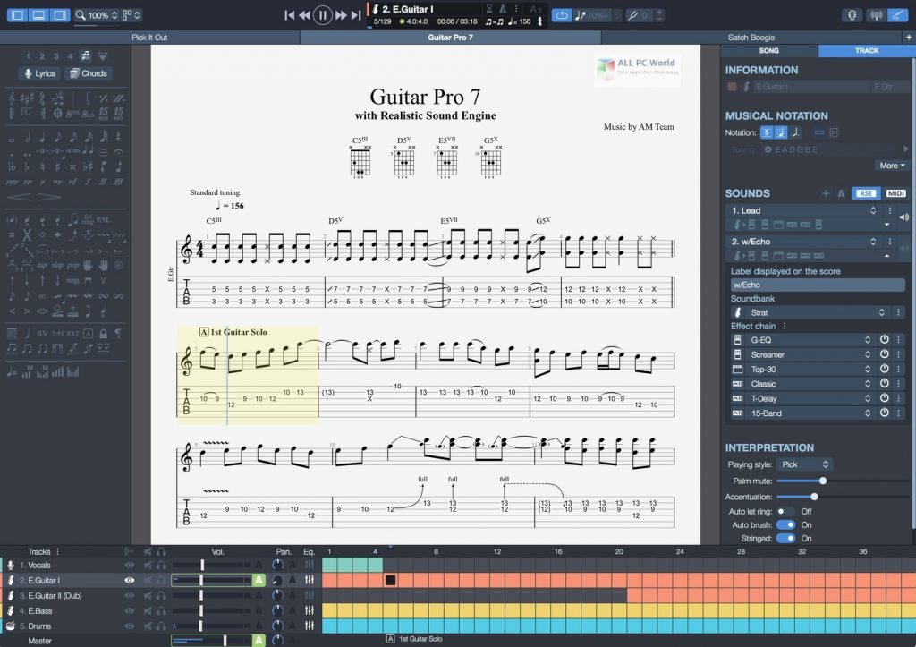 Guitar Pro 7.5 Full Version Free Download