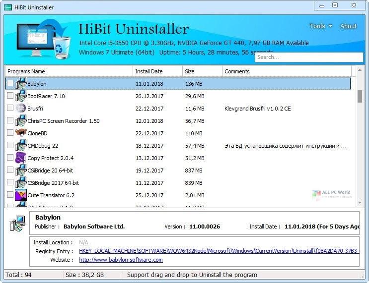 Hibit Uninstaller 2.5 Direct Download lInk
