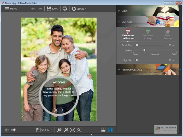 InPixio Photo Cutter 10.4 Direct Download Link