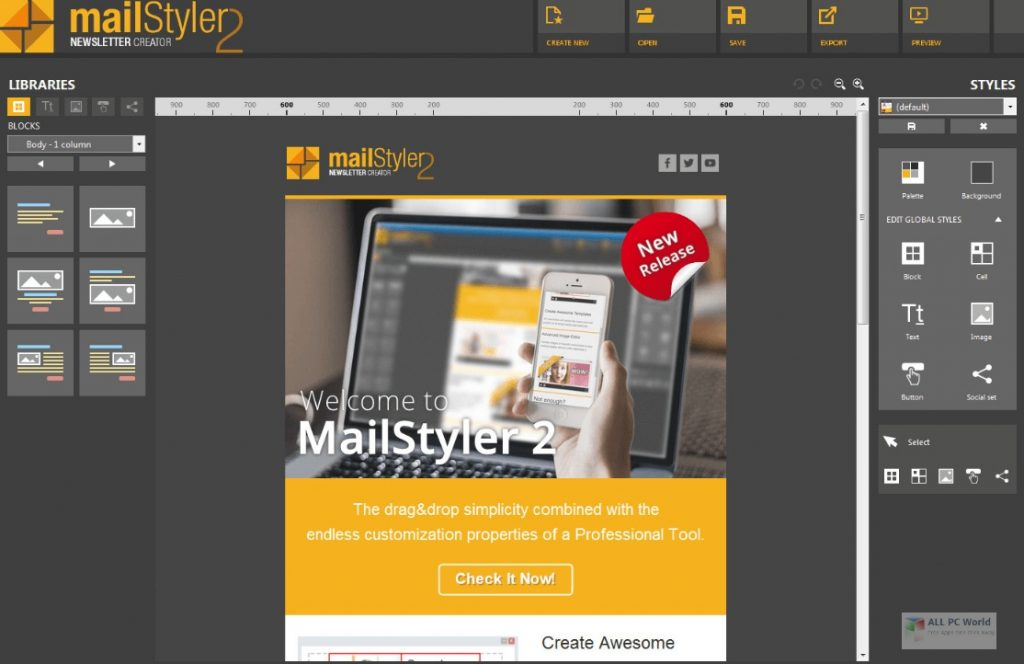 MailStyler Newsletter Creator 2020 v2.8 Download