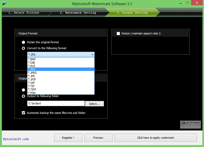 Mytoolsoft Watermark Software 5.0 One-Click Download