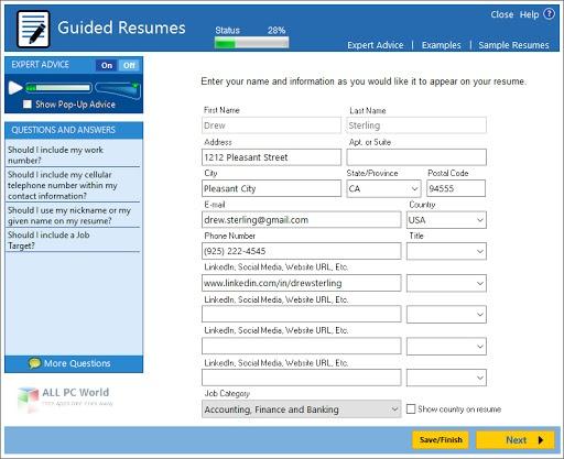 ResumeMaker Professional Deluxe 20.1.2 Direct Download Link
