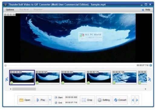 ThunderSoft Video to GIF Converter 3.1 One-Click Download