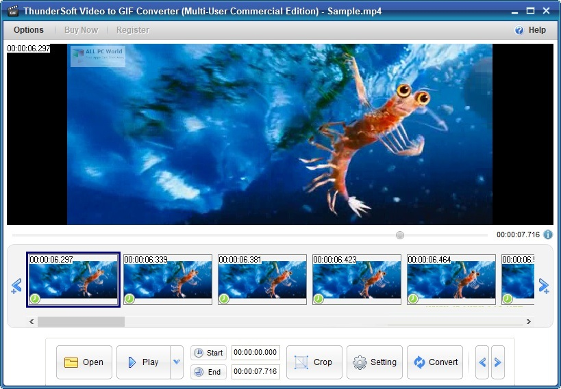 ThunderSoft Video to GIF Converter 3.1