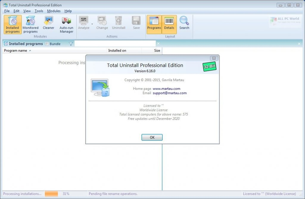 Total Uninstall Professional 6.27 One-Click Download