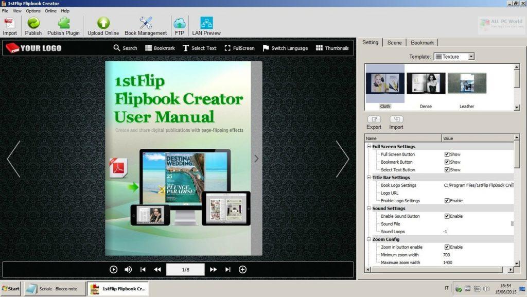 1stFlip FlipBook Creator Pro 2.7.4 Free Download