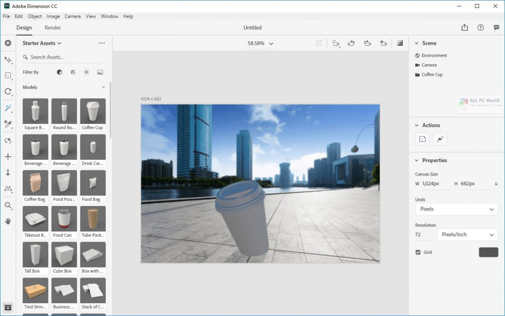 Adobe Dimension CC 2020 v3.4 Direct Download Link