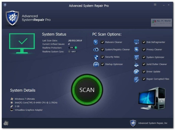 Advanced System Repair Pro 1.9 Free Download