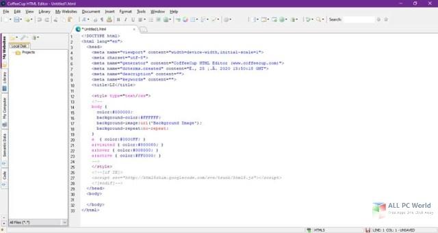CoffeeCup HTML Editor 17.0 Free Download