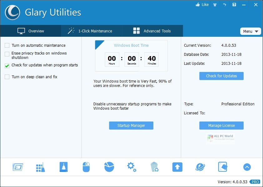 Glary Utilities Pro 5.152 Direct Download Link