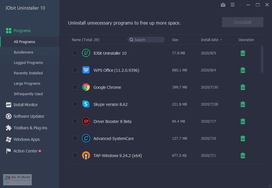 IObit Uninstaller Pro 10.1 Free Download
