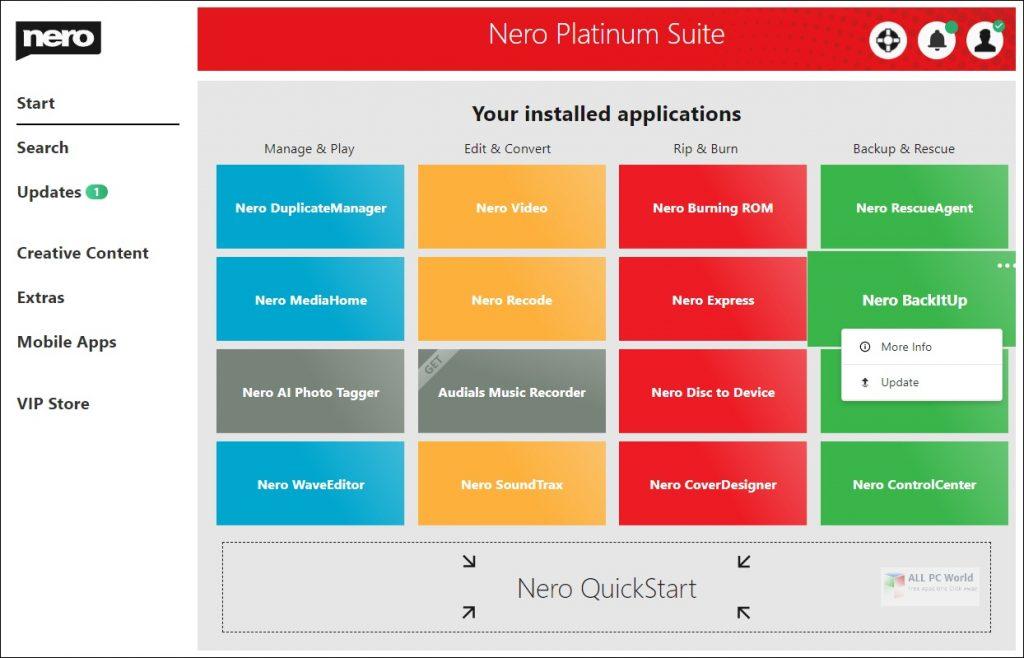 Nero Platinum Suite 2021 v23.0 Free Download