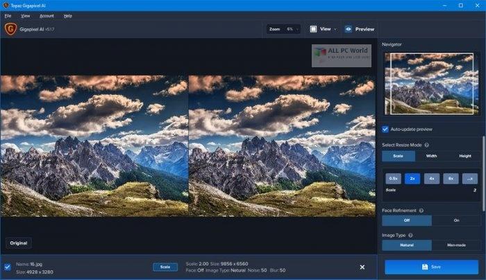 Topaz Gigapixel AI 5.2.1 Direct Download Link