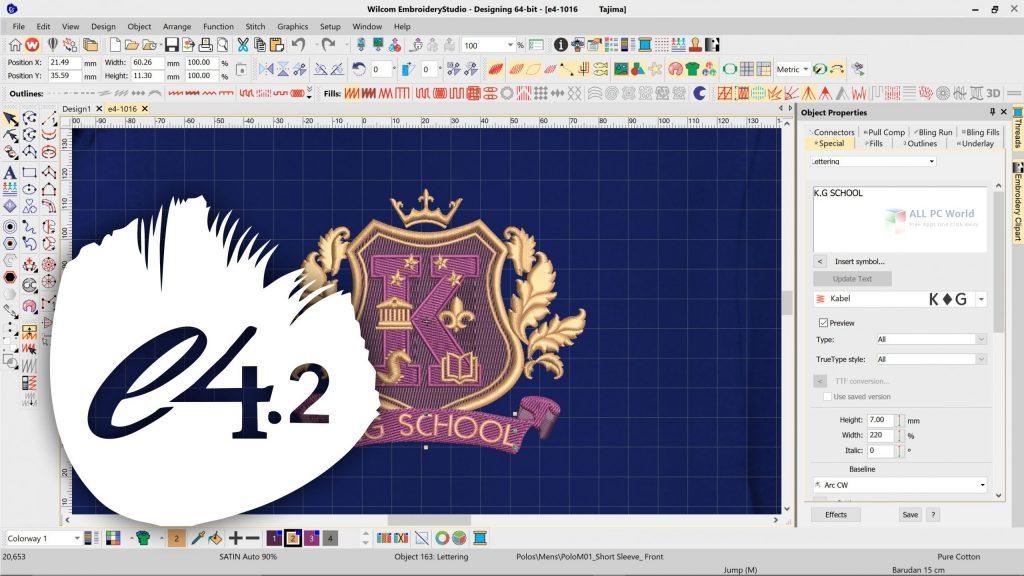 Wilcom Embroidery Studio Designing e4.2