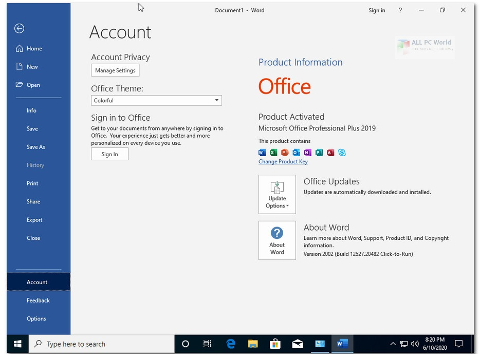 Windows 10 x64 Pro incl Office 2019 October 2020 Direct Download Link