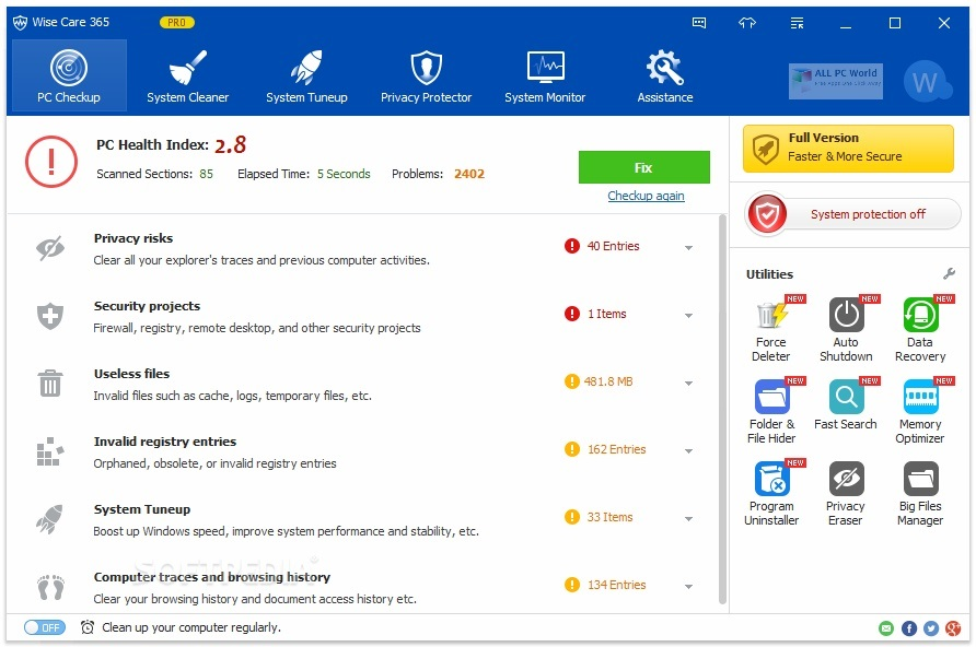 Wise Care 365 Pro 2020 v5.5.8 Free Download