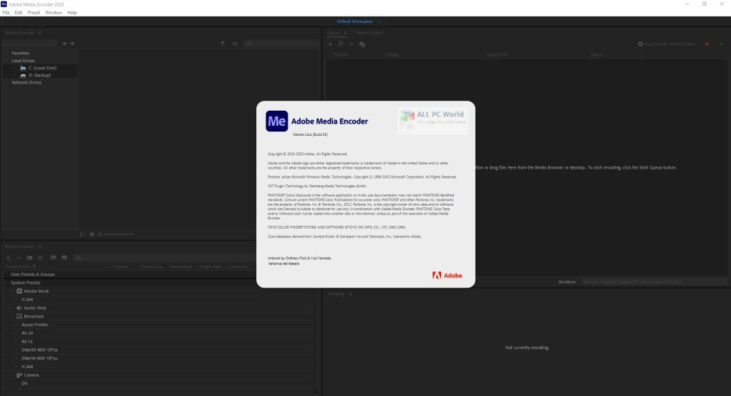 Adobe Media Encoder 2020 v14.6 Direct Download Link