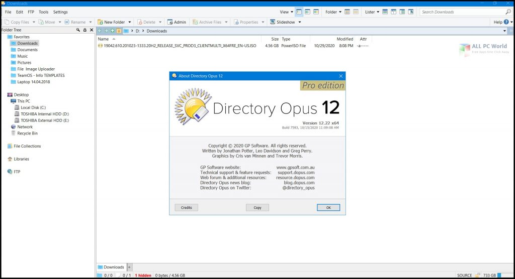 Directory Opus Pro 12.22 for Windows