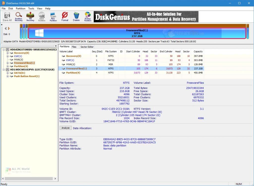 DiskGenius Professional 5.4 Free Download