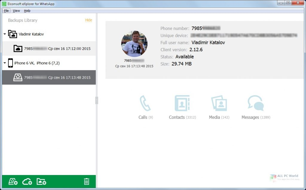 Elcomsoft Explorer For WhatsApp Forensic Edition 2.76 Full Version Download