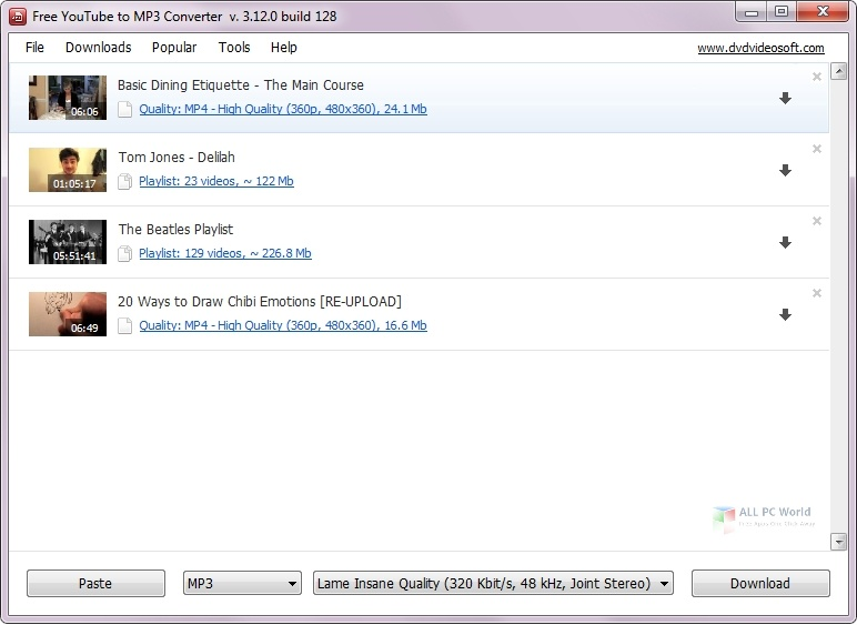 Free YouTube to MP3 Converter 4.3 Direct Download Link