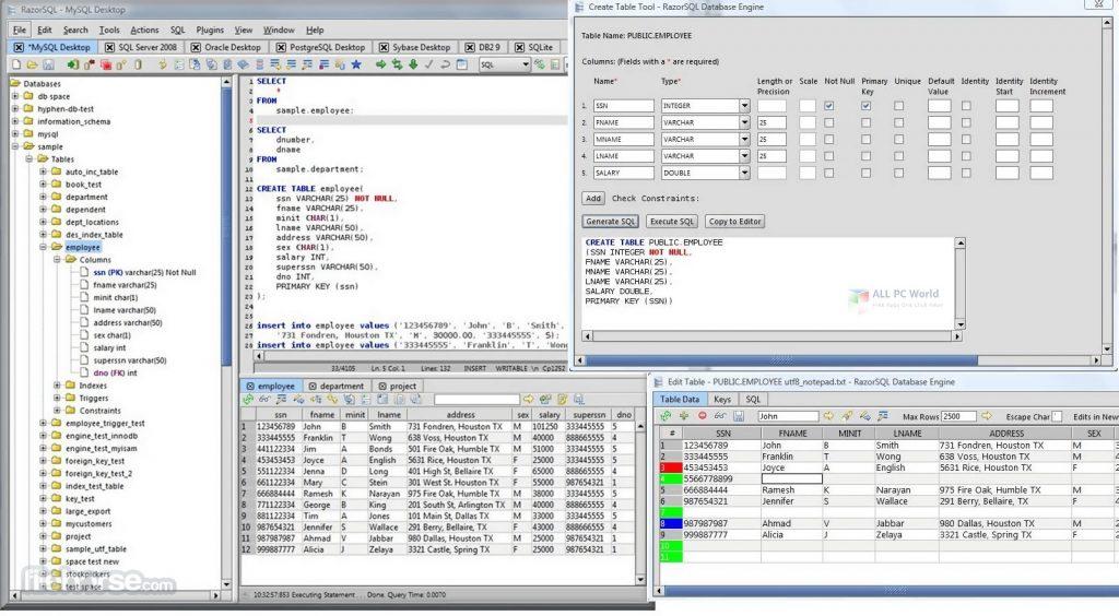 RazorSQL 9.2.7 Free Download