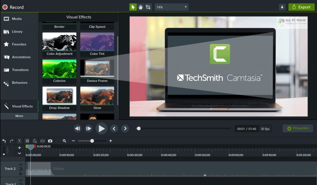 TechSmith Camtasia Studio 2020 Free Download - ALL PC World