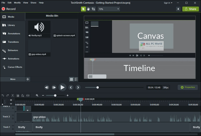TechSmith Camtasia Studio 2020 for Windows