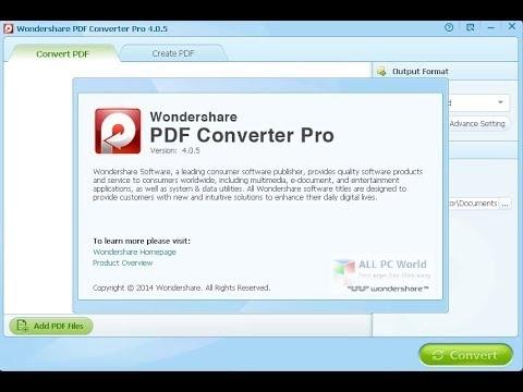 Wondershare PDF Converter 5.1 Full Version Download