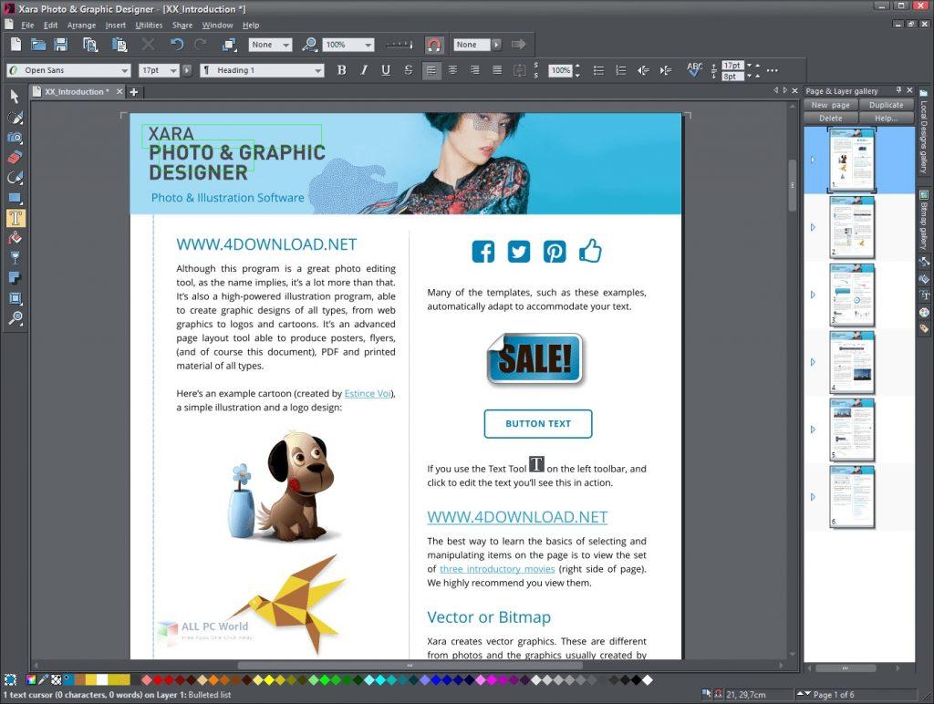 Xara Photo & Graphic Designer 2021 for Windows