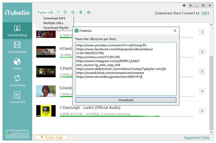 iTubeGo YouTube Downloader 4.2.9 Direct Download Link