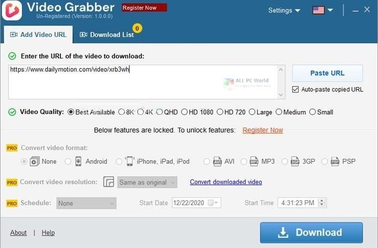 Auslogics Video Grabber Free Download