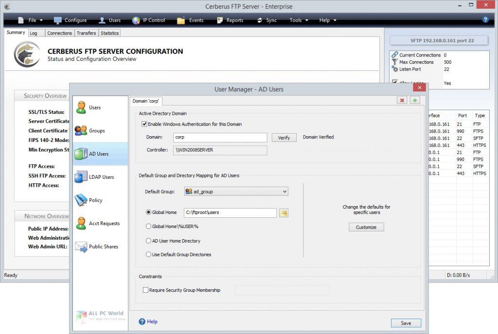 Cerberus FTP Server 12 for Windows Free Download