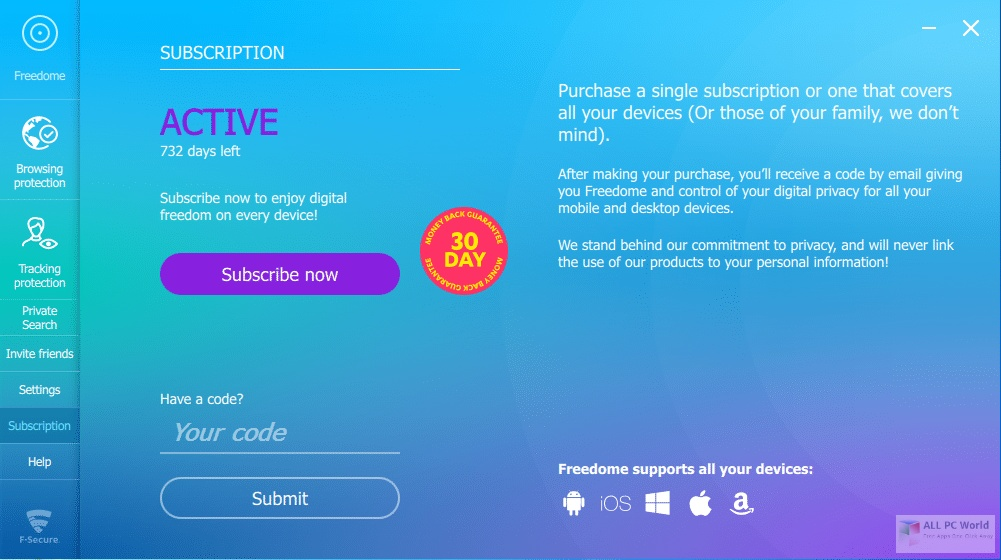 F-Secure Freedome VPN 2.16 Direct Download Link