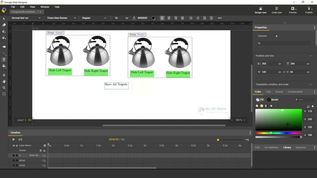 Google Web Designer 10 Free Download