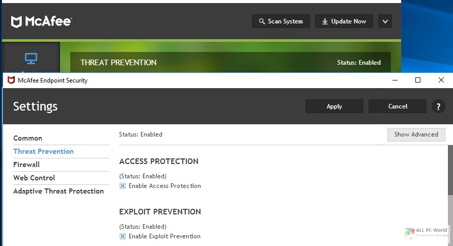 McAfee Endpoint Security 10.7