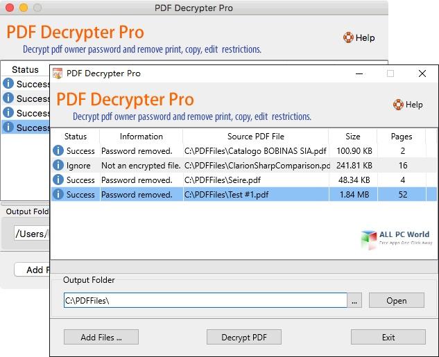PDF Decrypter Pro 4.5