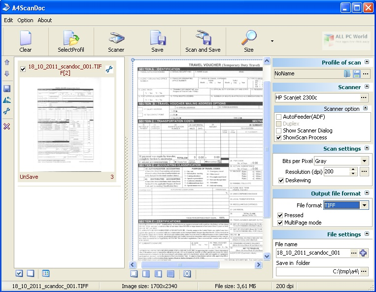 A4ScanDoc 2.0.8 Free Download