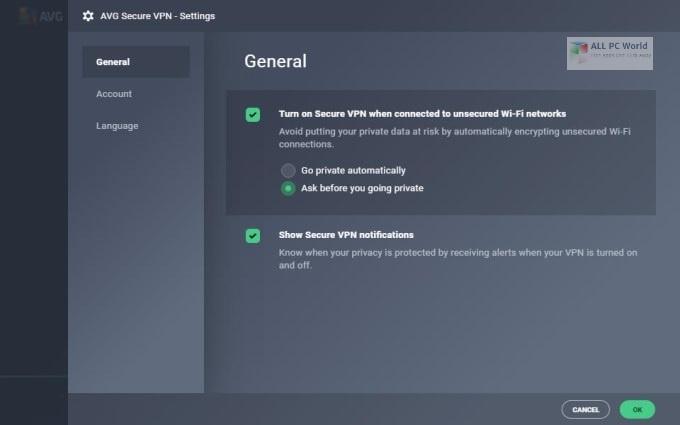AVG Secure VPN 1.10 Free Download