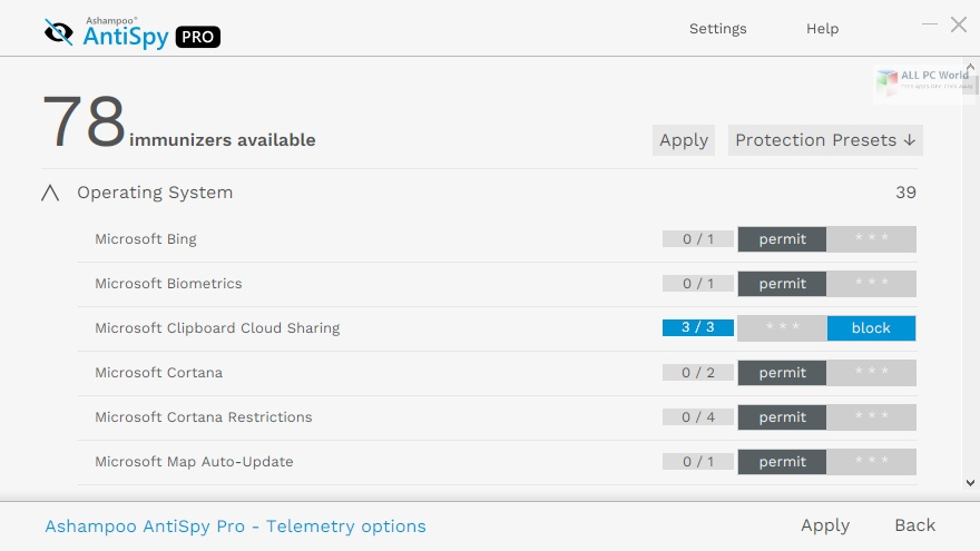 Ashampoo AntiSpy Pro 1.0 Direct Download Link