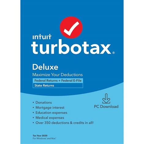 Download Intuit TurboTax Deluxe 2020