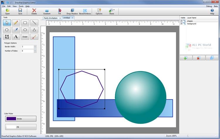 NCH DrawPad Pro 6.58 Free Download