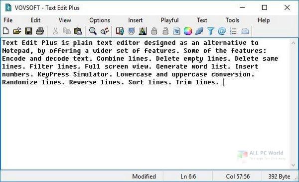 VovSoft Text Edit Plus 8.2 Free Download
