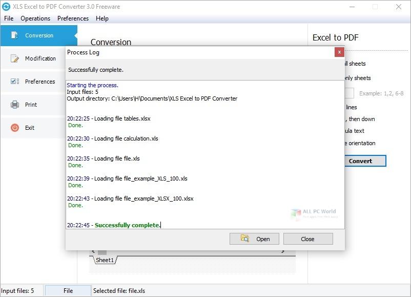 XLS Excel to PDF Converter 4.2 Direct Download Link