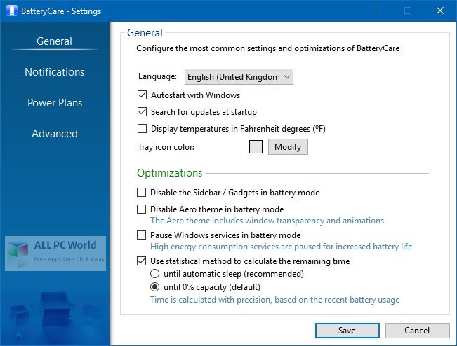 BatteryCare Setup Free Download