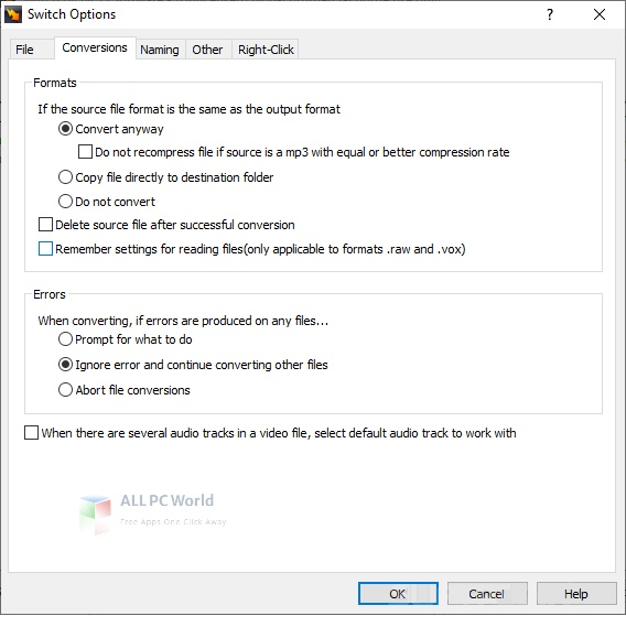 Switch Free Audio Converter and MP3 Converter Setup Free Download
