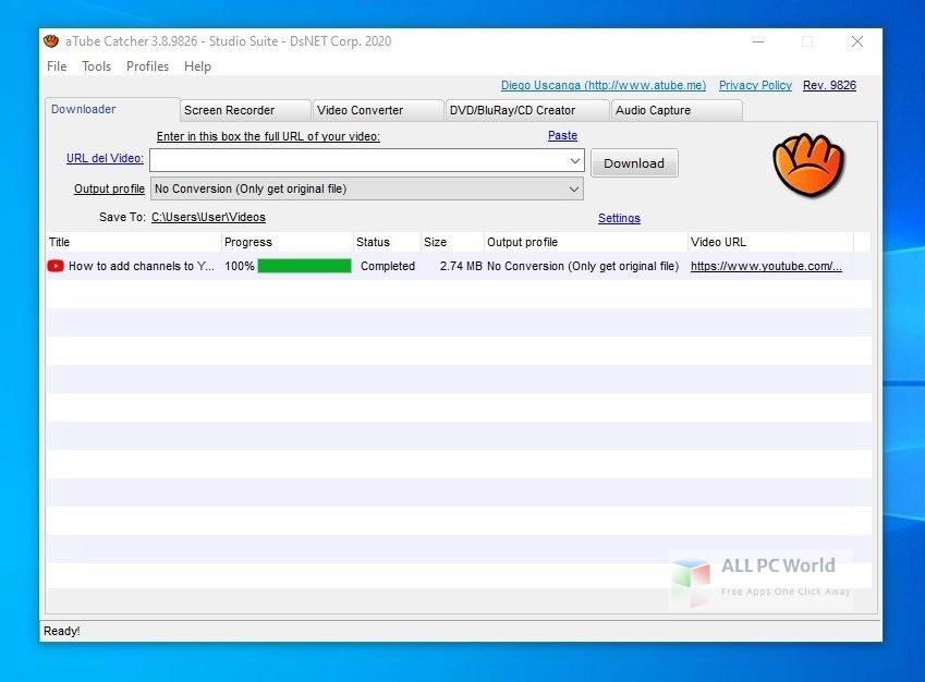 aTube Catcher 3 Setup Free Download