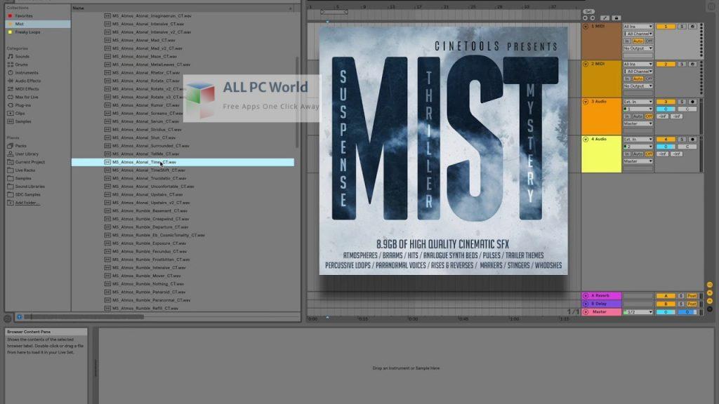 Cinetools Mist FX WAV Setup Free Download